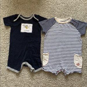 Burt's Bees Baby Boy 3-6 Months Set of 2